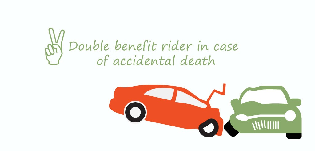 Double benefit rider in case of accidental death