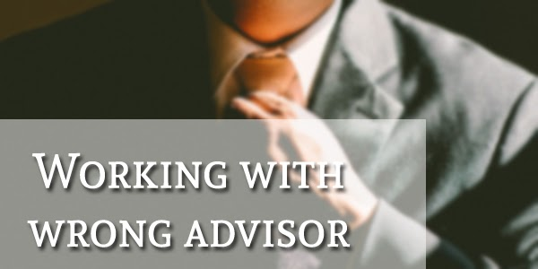 Working with wrong advisor